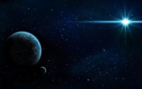 stars, satellite, star, art, planets