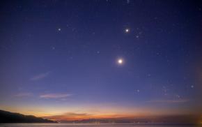 stars, sky, landscape, nature