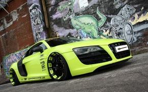 Audi, cars, green, supercar