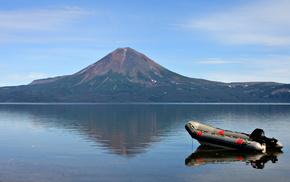 nature, boat, water, sky