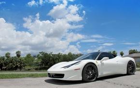 Ferrari, sky, white, Italy, cars