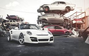 cars, white, Porsche