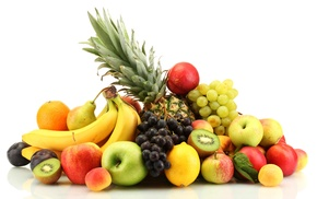апельсины, цитрусы, бананы, вкусно, ягоды, лимоны