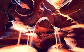Каньон Антилопы, песок, красивые, скалы, Аризона, свет