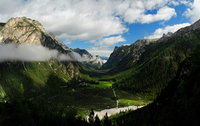 forest, lodge, mountain, nature, valley