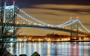 evening, city, cities, lights, USA