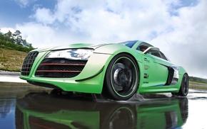cars, green, supercar, Audi