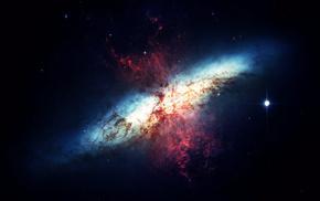 Пространство, туманность, галактика, космос, звёзды