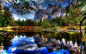 mountain, nature, reflection