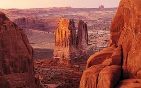 пейзаж, США, Горы, природа