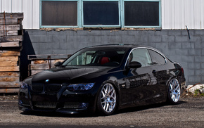 cars, black, BMW, coupe