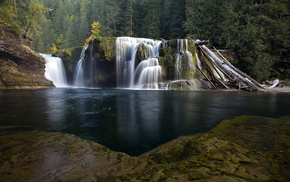 nature, landscape, river, waterfall
