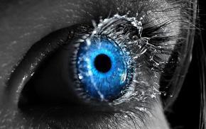 stunner, abstraction, girl, eyes