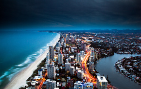 ocean, Australia, cities, city, sea