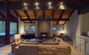 villa, interior, house, design, style