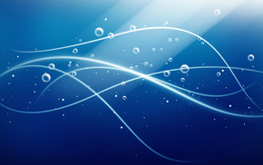 bubbles, abstraction, rays, 3D, lines