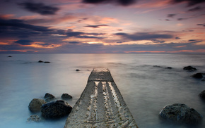 coast, sea, nature, stones, UK
