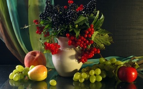 stunner, grapes, fruits, berries, still life