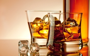 stemware, bottle, ice, drink, stunner