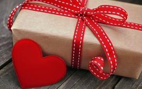 heart, box, holiday, gift