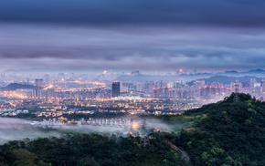 dawn, morning, cities, city, China