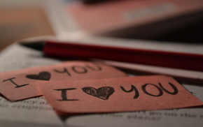 macro, book, heart, pink, love