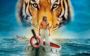 tiger, movies, boat, sea, boy