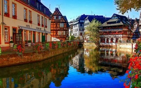 city, cities, France, river, houses