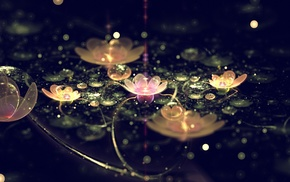 flowers, flower, 3D, abstraction, art
