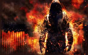 fire, demon, smoke, flame, fantasy