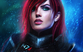 girl, Mass Effect 3, video games, armor