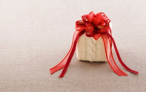 gift, red, bow