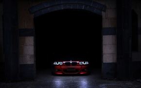 garage, shadow, cars