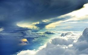 light, nature, clouds, sky