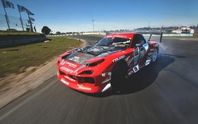 Mazda, автомобили, race, скольжение, гонка, rx7
