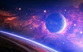 nebula, space, planets, stars
