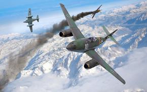 jets, aircraft, art, war