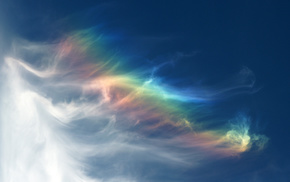 rainbow, clouds, nature, sky, colors