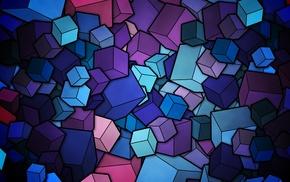 цифровое искусство, векторы, аниме, красочно, куб