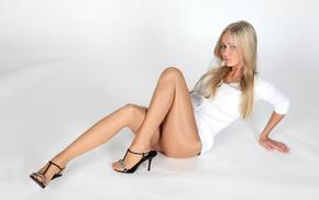 pantyhose, girls, blonde, girl, dress