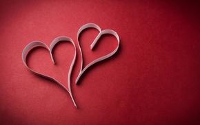 heart, paper, minimalism