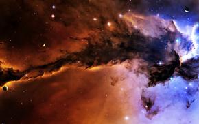 space, stars, planets, nebula