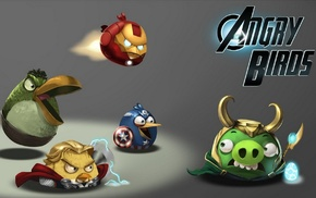 Thor, Iron Man, Hulk, The Avengers, Captain America, Angry Birds