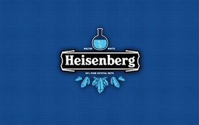 blue background, typography, blue, Heisenberg, Breaking Bad