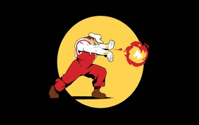 fireballs, Nintendo, black background, Super Mario, simple, video games