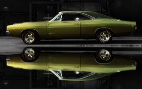 Dodge, muscle cars, Dodge Charger, old car, car, reflection