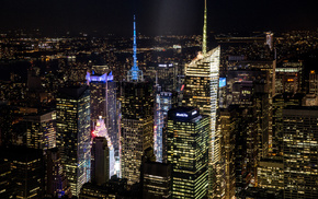skyscrapers, New York City, city, cities, night