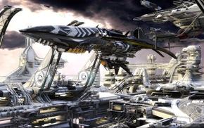 научная фантастика, космический корабль