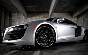 garage, wheels, Audi, cars