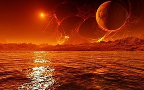 sea, planet, space